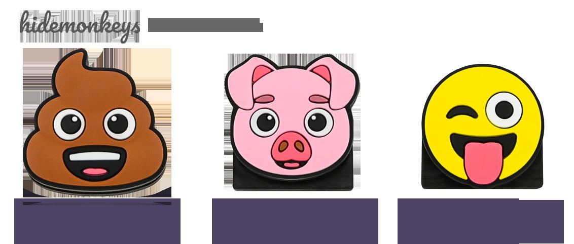 Laptop Kamera Abdeckung Webcam Cover Emoji Design hidemonkeys
